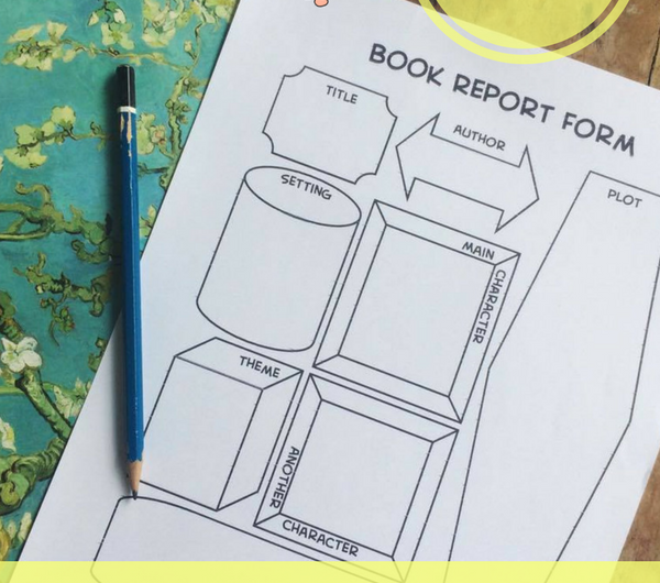 free printable book report notebooking page • book report template • homeschool language arts and reading